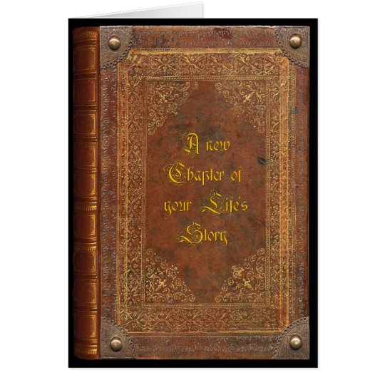 Antique Book (customizable) Card