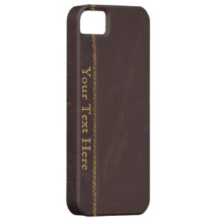 Antique Book faux leather, vintage retro look iPhone 5 Case