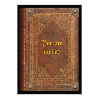 Antique Book Personalized Invitation