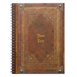 Antique Book Look Notebook
