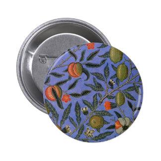 Antique Botanical Design 2 Inch Round Button