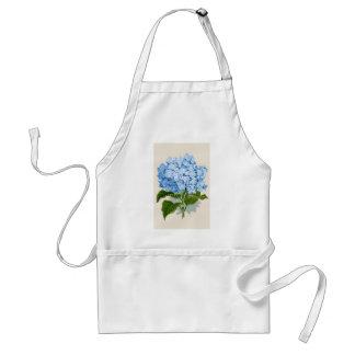 Antique Botanical Romantic Blue Hydrangea Standard Apron