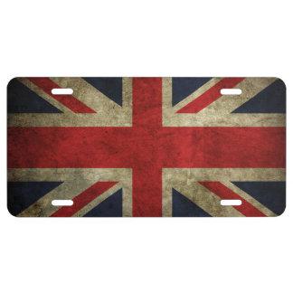 Antique British Union Jack Flag of England License Plate