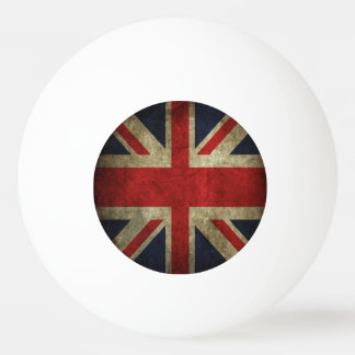 Antique British Union Jack Flag of UK Britain Ping-Pong Ball
