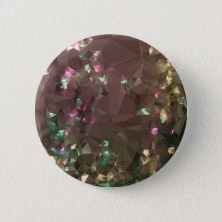 Antique Bronze Abstract Low Polygon Background 2 Inch Round Button