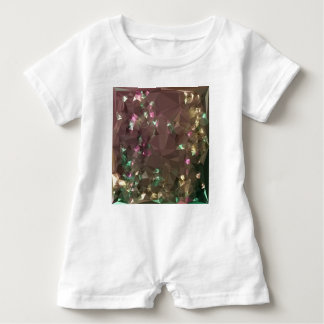 Antique Bronze Abstract Low Polygon Background Baby Romper