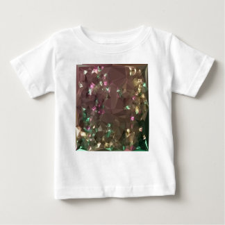 Antique Bronze Abstract Low Polygon Background Baby T-Shirt
