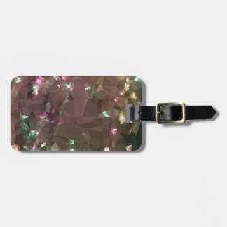 Antique Bronze Abstract Low Polygon Background Bag Tag