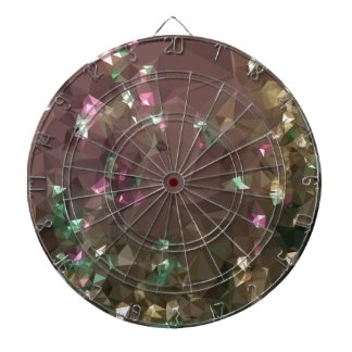 Antique Bronze Abstract Low Polygon Background Dartboard