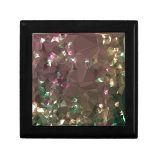 Antique Bronze Abstract Low Polygon Background Gift Box