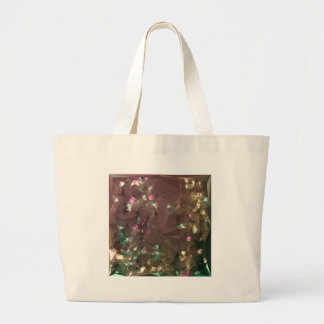 Antique Bronze Abstract Low Polygon Background Large Tote Bag