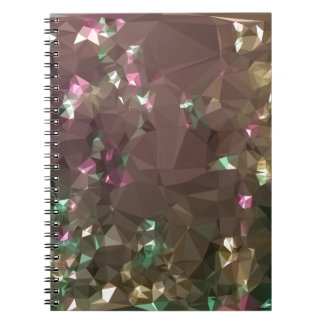 Antique Bronze Abstract Low Polygon Background Notebook