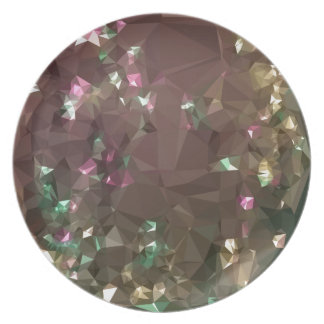 Antique Bronze Abstract Low Polygon Background Plate