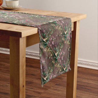 Antique Bronze Abstract Low Polygon Background Short Table Runner