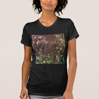 Antique Bronze Abstract Low Polygon Background T-Shirt
