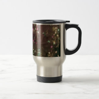 Antique Bronze Abstract Low Polygon Background Travel Mug