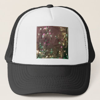 Antique Bronze Abstract Low Polygon Background Trucker Hat