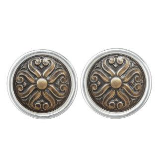 Antique Bronze Pattern Photo Cufflinks