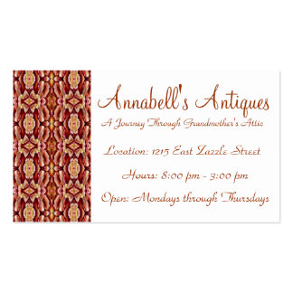 Antique Brown Sepia Lace Vintage Retro Old 1800's Business Cards