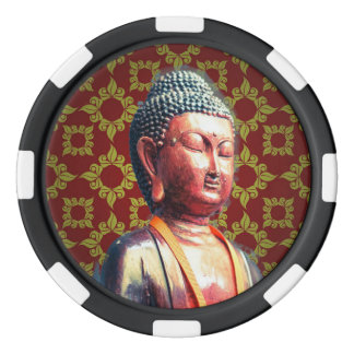 Antique Buddha Poker Chips