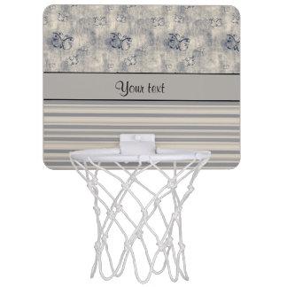 Antique Butterflies & Stripes Mini Basketball Backboard