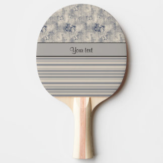 Antique Butterflies & Stripes Ping-Pong Paddle
