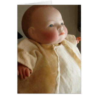 Antique Bye Lo Doll Greeting Card - Customizable