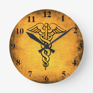 Antique Caduceus Wall Clock