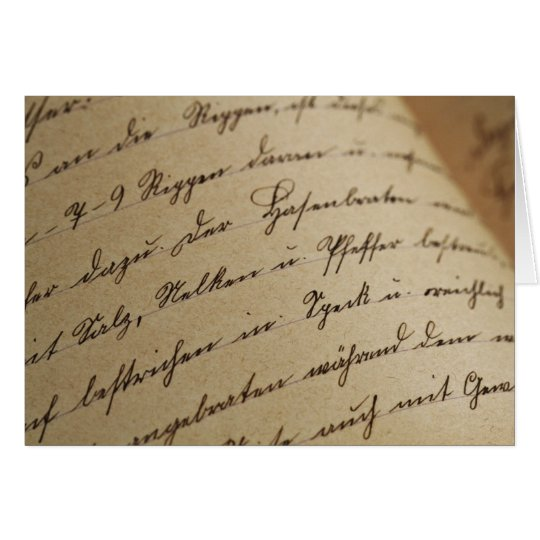 Antique Calligraphy Letter Card