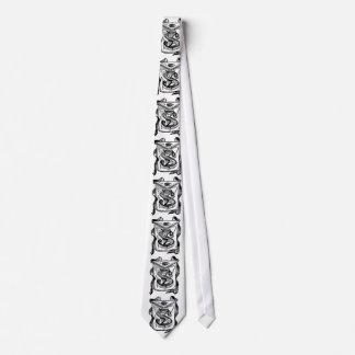 Antique Calligraphy Masonic Symbols Letter S Tie