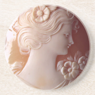 Antique Cameo Beverage Coasters