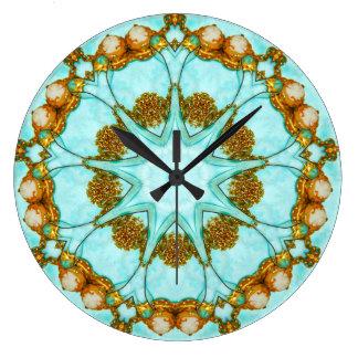 Antique Cameo Fractal Large Clock