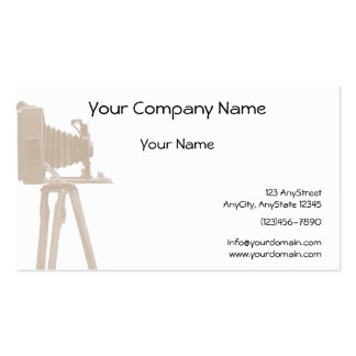 Antique Camera on Sepia Toned Background Business Card
