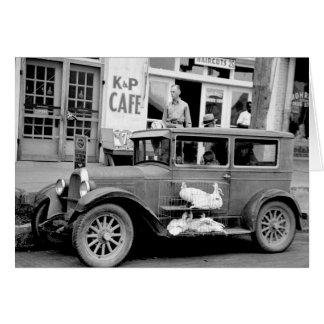 Antique Car, 1930s Greeting Card
