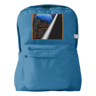 Antique car as art backpack
