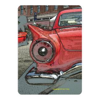 Antique car as art invitations