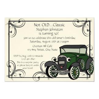 "Antique Car Birthday 5"" X 7"" Invitation Card"