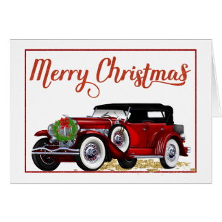 Antique Car Christmas Card