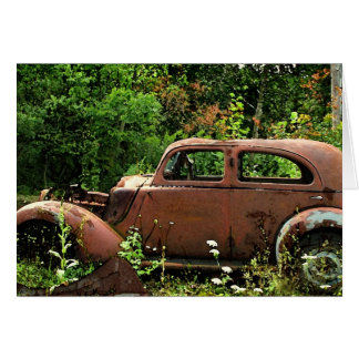 Antique Car Note Card