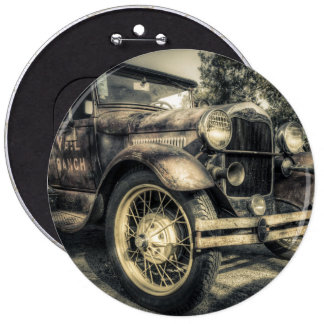 Antique Car,old car 6 Inch Round Button