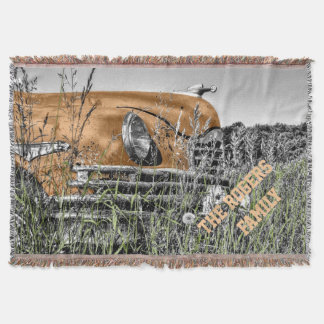 Antique Car Personalized Throw Blanket