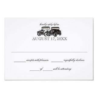 Antique Car Wedding Response Card