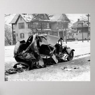 Antique Car Wreck, 1923 Poster