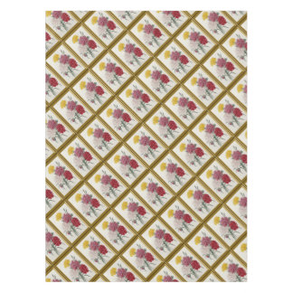 Antique Carnations In A Golden Frame Tablecloth