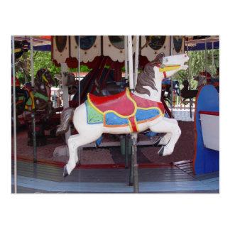 Antique Carousel Horse Postcard