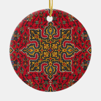 Antique Carpet Ceramic Ornament
