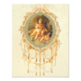 Antique Cherub Ornate Art Design Invitation