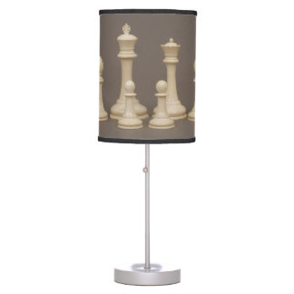 Antique Chess Set Table Lamp