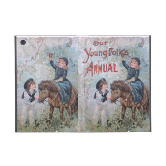 Antique Children's Book with Girl on Pony Cover For iPad Mini