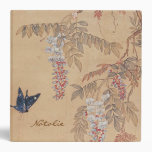 Antique Chinese Butterfly and Wisteria Binder